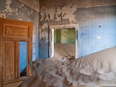 Namibia - At Kolmanskop, the abandoned ghost town of the diamond days of the early 1900 and of German origin Inside the restricted Diamond Area east of the coastal town of Lüderitz