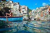 Riomaggiore. Cinque Terre. Liguria. Italian Riviera. Italy. Europe.
