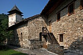 Serbia, Studenica Monastery, founded by Grand Prince Stefan Nemanja, late 12th century, Western Gate, fortification wall, Orthodox, christian, religious, exterior, outside, facade, colour