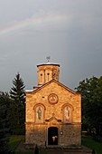 Serbia, Koporin Monastery, Church of St Stephen, end of 13th century, founded by Despot Stefan Lazarevi, Orthodox, christian, religious, exterior, outside, facade, colour