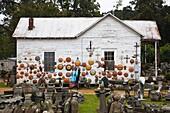 USA, Louisiana, St Francisville, garden ornament shop