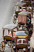 Malta, Valletta, Floriana, horse carriages at Pinto Wharf