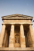 Malta, Valletta, Lower Barrakka Gardens, Doric Temple memorial to Sir Alexander Ball, English naval officer who took Malta from the French in 1800