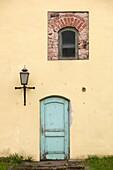 Latvia, Northeastern Latvia, Vidzeme Region, Gauja National Park, Cesis, St John's Church, doorway