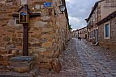 Castrillo de los Polvazares, near Astorga, Camino Frances, Way of St. James, Camino de Santiago, pilgrims way, UNESCO World Heritage, European Cultural Route, province of Leon, Old Castile, Castile-Leon, Castilla y Leon, Northern Spain, Spain, Europe