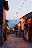 Acebo in the evening light, near Ponferrada, Camino Frances, Way of St. James, Camino de Santiago, pilgrims way, UNESCO World Heritage, European Cultural Route, province of Leon, Old Castile, Castile-Leon, Castilla y Leon, Northern Spain, Spain, Europe