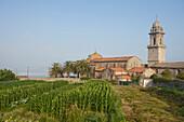 Monasterio Santa Maria, monastry, Cistercian, Oia, Oya, Atlantic Ocean, Camino Portugues, Way of St. James, Camino de Santiago, pilgrims way, province of Pontevedra, Galicia, Northern Spain, Spain, Europe