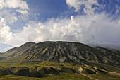 Monte Brancastello in the sunlight, Campo Imperatore, Gran Sasso National Park, Abruzzi, Italy, Europe