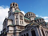 The gold-domed St. Alexander Nevsky Cathedral was built in the early 20th century in memory of the Russian soldiers, who died in the Russo-Turkish War, 1877–1878. It is one of the largest Eastern Orthodox cathedrals in the world. The cathedral's gold-plat