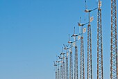 Clean energy, Color, Energy, Industry, La mancha province, Landscape, Micro wind-driven, Production, Sky, Spain, Vertical, Wind-driven, K08-1031973, agefotostock