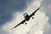 Landing Aeroplane, Airport Frankfurt, Germany
