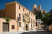 Counts of Cirat palace and castle, Contemporary Sculpture Museum José Luis Sánchez, Almansa, Albacete province, Castilla la Mancha, Spain