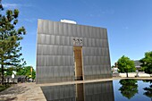 Wall marking time of bombing 9:03 Oklahoma City Bombing Site Alfred P Murrah Building National Memorial