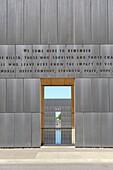 Wall of Oklahoma City National Memorial Bombing Site Alfred P Murrah Building