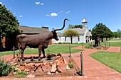Longhorn on the Range Metal Sculpture National Route 66 Museum Elk City Oklahoma