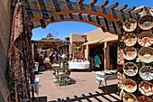 Shopping area downtown Santa Fe New Mexico