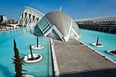 Príncipe Felipe Science Museum and Hemisferic, City of Arts and Sciences, Valencia. Comunidad Valenciana, Spain