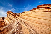Arizona, Curves, Delicate, Desert, Fin, Landscape, Nature, Navajo land, Page, Rock, Sandstone, Scenic, Southwest, United states of america, Waterholes slot canyon, S19-1107310, agefotostock