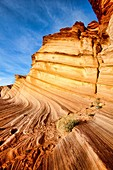 Arizona, Curves, Delicate, Desert, Fin, Landscape, Nature, Navajo land, Page, Rock, Sandstone, Scenic, Southwest, United states of america, Waterholes slot canyon, S19-1107313, agefotostock