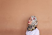 Young woman wearing a headscarf in Marrakech, Morocco