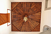 Wooden plafond in the Casa Salazar, bishop's see, San Cristobal de la Laguna, old town, Tenerife, Canary Islands, Spain