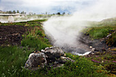 Pipeline On The Geothermal Site On The Reykholt Plain, Vapour, Europe, Iceland