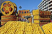 Exhibition Of Giant Motifs Made Of Citrus Fruits Based On A Cinema Theme, Lemon Festival, Bioves Garden, Menton, Alpes-Maritimes (06), France