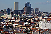General View Over The Roofs Of The City And The Business District, Madrid, Spain