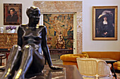 Statue And Paintings In The Museum Home Of The Painter Joaquin Sorolla, Madrid, Spain