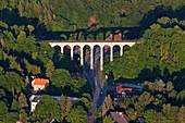 Railway viaduct, Greene, Kreiensen, Weser Hills, Lower Saxony, Germany