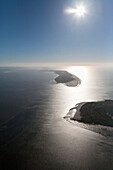 Nordeney and Juist islands in backlight, Lower Saxony, Germany