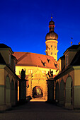 Entrance to the castle, Weikersheim, Tauber valley, Romantic Road, Baden-Wurttemberg, Germany