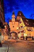 Röderbogen and Markusturm, Rothenburg ob der Tauber, Tauber valley, Romantic Road, Franconia, Bavaria, Germany