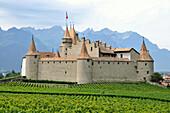Aigle Castle, Aigle, Rhone valley, Vaud, Switzerland