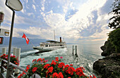 Excursion boat on Lake Geneva, Rivaz, Lavaux, Vaud, Switzerland