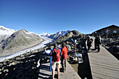 View from mount Eggishorn to Aletsch Glacier, Canton of Valais, Switzerland