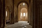 Interior view of the church Iglesia San Martin, Fromista, Province of Palencia, Old Castile, Catile-Leon, Castilla y Leon, Northern Spain, Spain, Europe