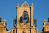 Bell tower of the townhall in the sunlight, Astorga, Province of Leon, Old Castile, Castile-Leon, Castilla y Leon, Northern Spain, Spain, Europe