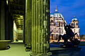 Altes Museum and Berlin Cathedral, Museum Island, Berlin Center, Berlin, Germany, Europe