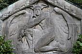 Gravestone at Ohlsdorf cemetery, Hanseatic city of Hamburg, Germany, Europe