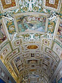 State of the Vatican City Italy Paintings on the ceilings of the interior galleries of the Vatican Museum