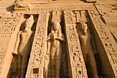 The Hathor Temple of Queen Nefertari at Abu Simbel in Egypt