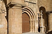Details of Santiago Church Cáceres City declared World Heritage by UNESCO Extremadura Spain