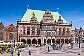 Historic town hall in Bremen, Germany, Europe