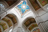The Almudena cathedral, indoor view. Madrid, Spain.