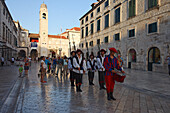Changing of the guard, Stradun, Old Town, Dubrovnik, Dubrovnik-Neretva county, Dalmatia, Croatia
