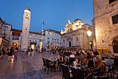 Church of Saint Blaise in the evening, Luza square, Dubrovnik, Dubrovnik-Neretva county, Dalmatia, Croatia