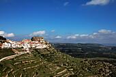 Mountain village with Mola castel, Ares del Maestre, Costa del Azahar, Province Castello, Spain