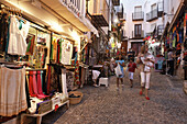 Shops in old town, Peniscola, Costa del Azahar, Valencia, Spain