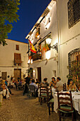 Restaurant in old town of Altea, Province Alicante, Spain